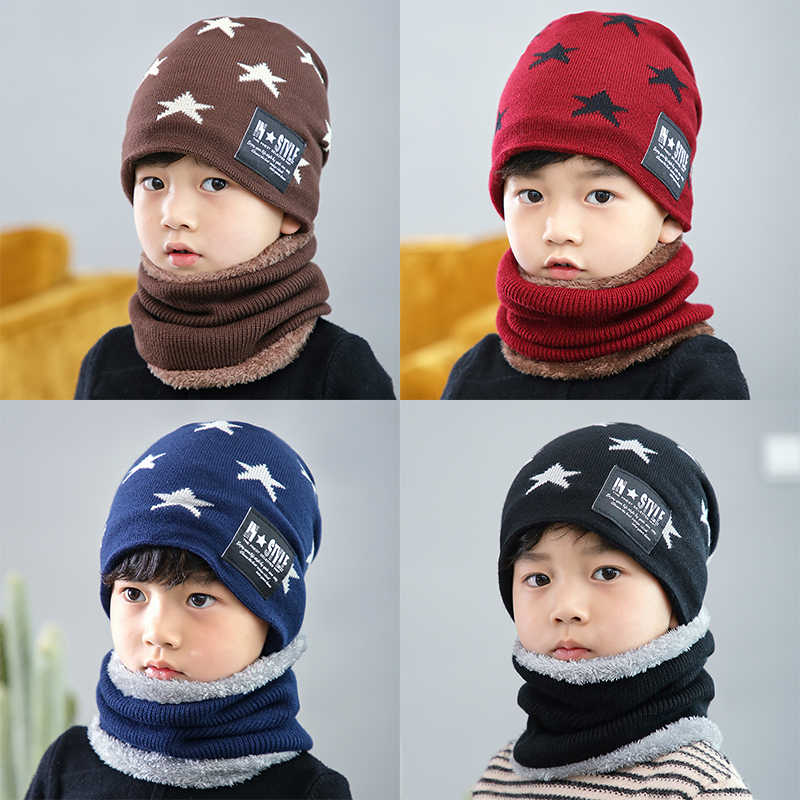 3d313a9d38337 ... 2018 Hot parent child 2pcs super warm Winter balaclava wool Beanies  Knitted Hat and scarf for ...