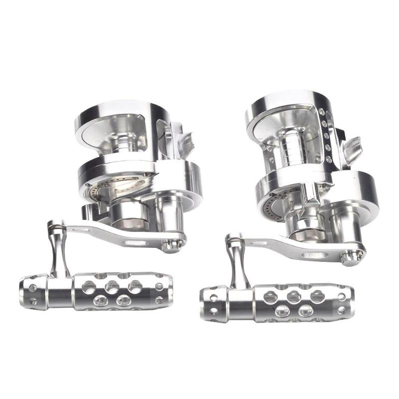 All-Metal Trolling Fishing Reel 7BB+1 4.5:1 Dual Brake Baistcasting Reel for Sea Fishing Fishing Tackle AccessoriesAll-Metal Trolling Fishing Reel 7BB+1 4.5:1 Dual Brake Baistcasting Reel for Sea Fishing Fishing Tackle Accessories