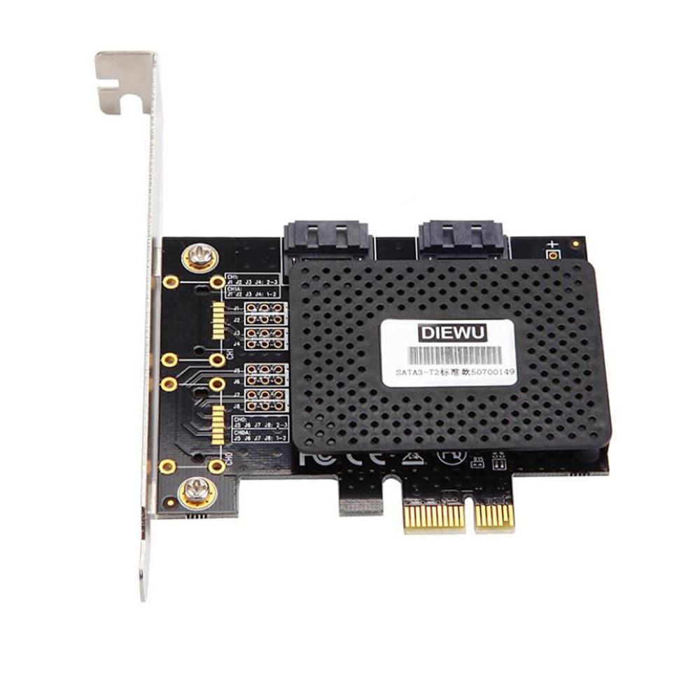 SATA3 PCI-E/PCIE/PCI Express SATA 3 Controller Multiplier SATA Card/Expansion PCI E PCIE X1 SATA Port Adapter Support IDE HAC