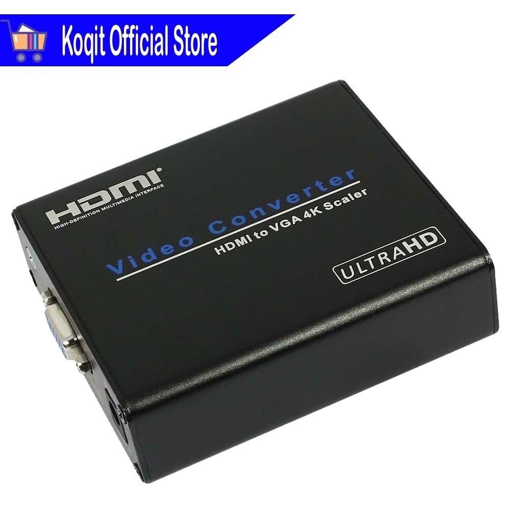 Vidéo Convertisseur HDMI À VGA 4 K Scaler extracteur audio AUX 3.5mm FL FR Stéréo HDCP HD 1080 P 4 K * 2 K Pour HDTV moniteur tv Projecteur