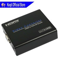 Video Converter HDMI To VGA 4K Scaler Audio Extractor AUX 3.5mm FL FR Stereo HDCP HD 1080P 4K*2K For HDTV TV Monitor Projector