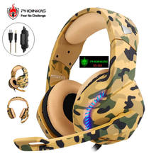 Gaming Headset Deep Bass Stereo Computer Game Headphones with microphone Game Headphones(China)