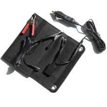 5V/12V 18V 6W Solar Panel Charger Usb+Dc Output Portable Solar Charger Bag For Mobile Phone /Power Bank 12V Battery