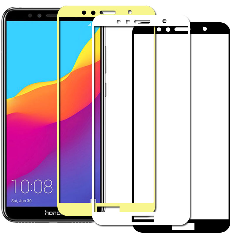 Full Cover Tempered Glas for Huawei Honor 7a Protective Film on Huwei Hyawei Huawey honer hono 7x a7 pro 7a 7c pro Safety Glass(China)