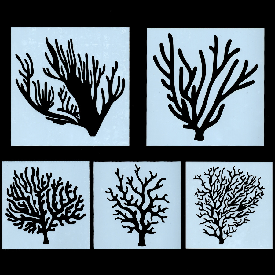 5Pcs/Set 13cm Tree Branch DIY Layering Stencils Wall Painting Scrapbook Coloring Embossing Album Decorative Card Template