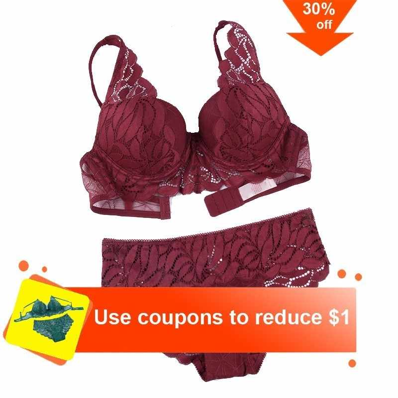 599ec21602 New Top Sexy Underwear Set Cotton Push-up Bra And Panty Sets 3 4