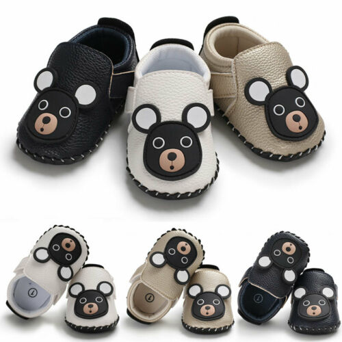 Cute Bear Fashion Newborn Baby Boy Girl Soft Sole Shoes Trainers  For 1 Year Old Soft Sole Toddler Size 0-18 Months