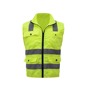 Image 5 - Reflective Safety Vest Reflective Multi Pockets Workwear Security Working Clothes Day Night Cycling Warning Safety Waistcoat