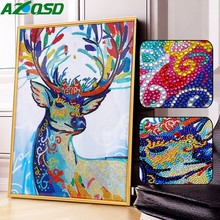 AZQSD Diamond Painting Deer Picture Of Rhinestones Special Shaped Embroidery Animals 5D DIY Decoration Home 40x50cm