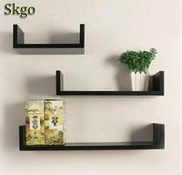 3 x U Shape Wall Shelves Floating Wall Storage Display Shelf Shelving weight Light weight and secure frame Easy to set change
