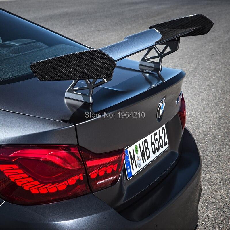 Araba Styling dış karbon Fiber modifiye GTS arka Spoiler kuyruk bagaj dudak kanat dekorasyon için Fit BMW F82 F80 M3 m4 M5 M6
