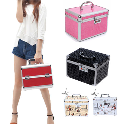 Luxury Extra Large Space Alu Beauty Make up Nail Cosmetic Box Storage Case-in Storage Boxes