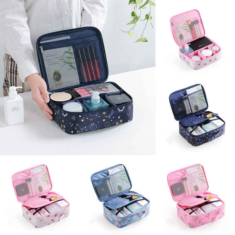 Women Cosmetic Make-up Bag Toiletry Washing Zipper Bag Beauty Case Travel Pouch Holder Storage Bags
