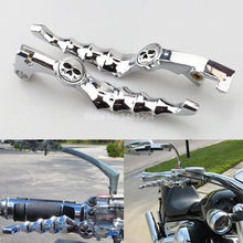 Silver Skull Skeleton Brake Clutch Levers Fit For Honda CBR600 VTX1300 Shadow 600 750(China)