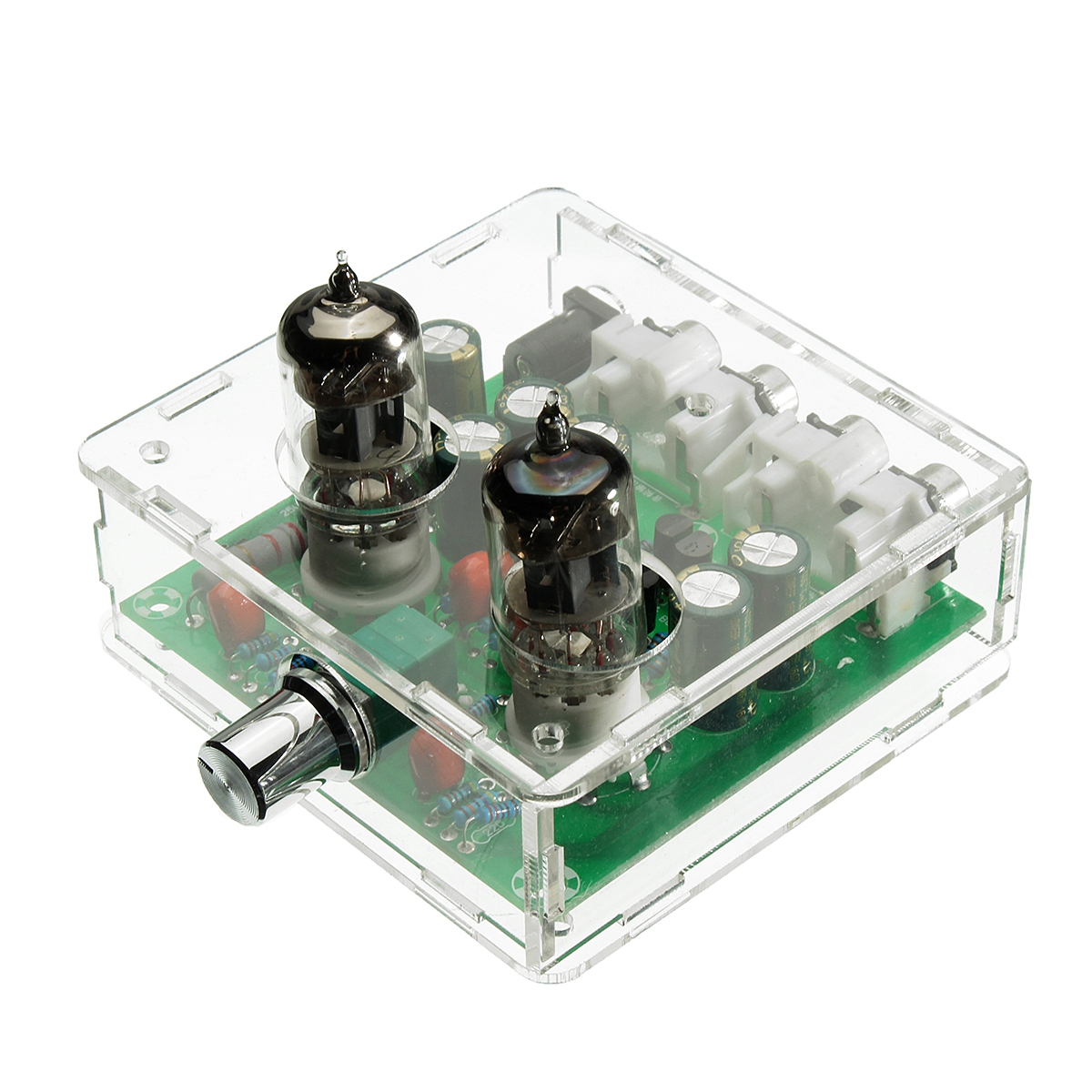 JABS AC 12V 6J1 Valve Pre-amp Tube PreAmplifier Board Headphone Amplifier Buffer Case
