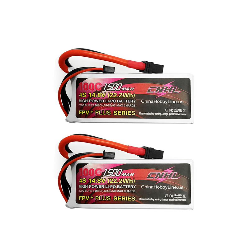 2PCS CNHL G+PLUS 14.8V <font><b>1500mAh</b></font> <font><b>4S</b></font> <font><b>100C</b></font> <font><b>Lipo</b></font> Battery XT60U Plug for RC Drone FPV Racing Models Spare Part DIY Accessories image