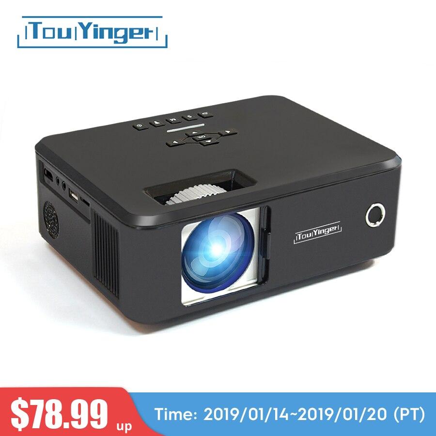 Touyinger everycom X20 мини светодиодный проектор ЖК-дисплей Бимер suport full hd видео портативный домашний кинотеатр ТВ кинотеатр videoprojecteur 3D VGA