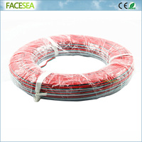 Free DHL 2pcs/5pcs 100m Electrical Wire Tinned Copper 3 Pin AWG 22 insulated PVC Extension Red Green White Electric Cable