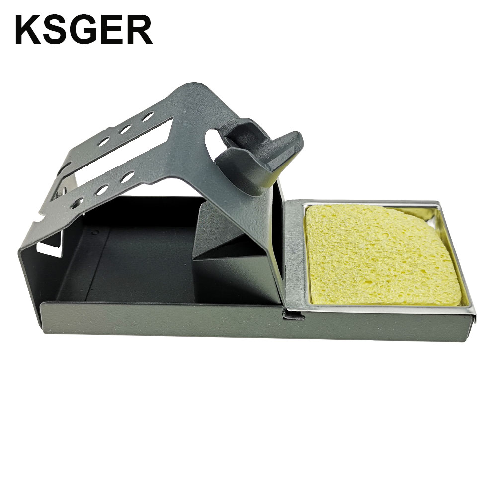Image 5 - KSGER  DIY T12 Zinc alloy Holder Soldering Iron FX9501 Handle Frame OLED Station Stand For Stainless Steel Handle Silicone PadElectric Soldering Irons   - AliExpress