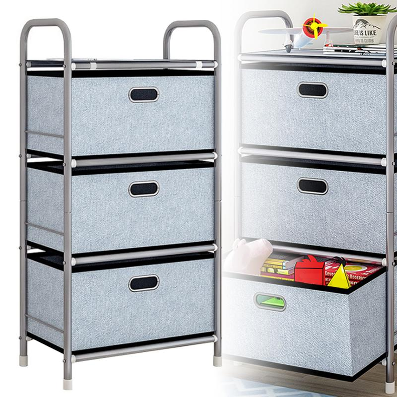 Drawer Storage Cabinet Thickened Enlarged Shelf Folding Fabric Drawer Toy Clothing Household Storage Rack Moisture proof