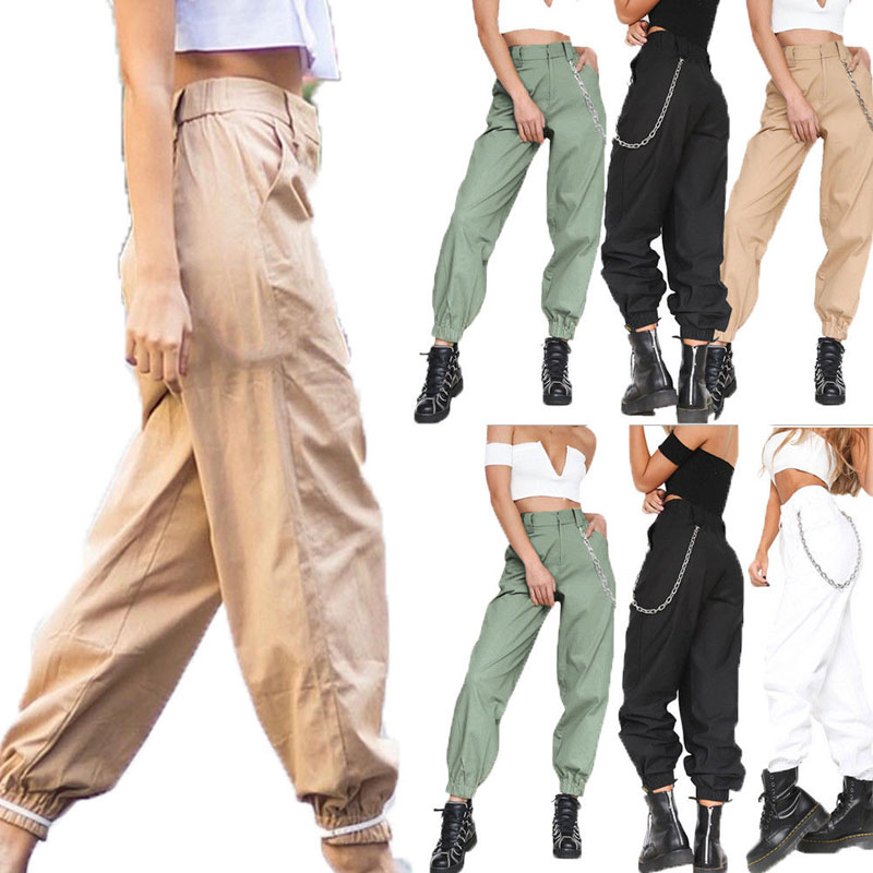 Brand New Fashion Women Ladies Combat Casual Cargo Cotton Military New Style Boyfriend Trousers Pants