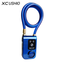 Outdoor Anti Theft Bicycle Lock Super Intelligent Phone APP Control Smart Alarm Bluetooth Lock Waterproof 110dB Alarm Lock