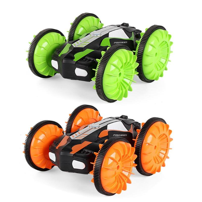 Kids Electronic Model Remote Control Vehicle Toy 360 Degree Rotation RC Car Driving On Water and Land Crawler Roll Car Toys Gift