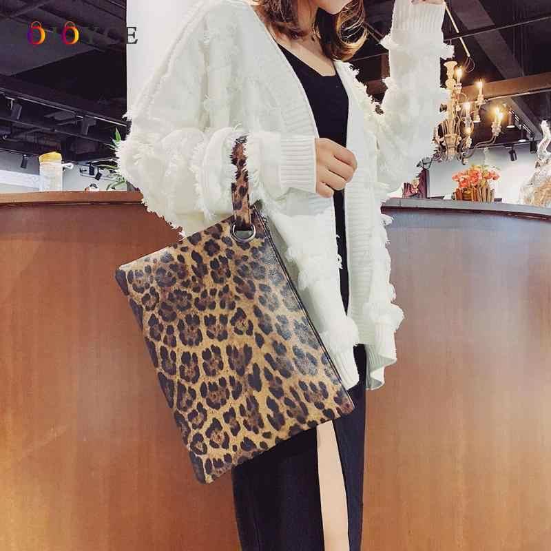 6b5c66c316ac Detail Feedback Questions about Women Leopard Print Day Clutch PU Leather  Zipper women envelope bag clutch evening bag female Handbag carteras y  bolsos de ...