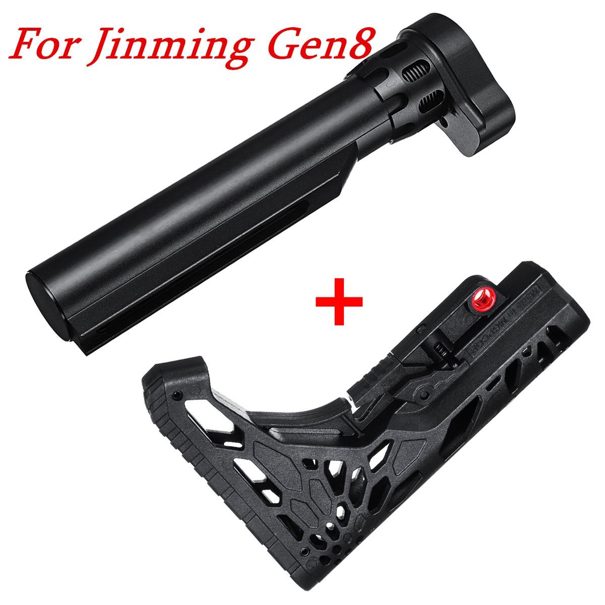 Upgrade Metal Buffer Tube+Pro Nylon Stock Kit for M4A1 Gen8 Gel Blasters Toy Guns c