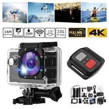 Ultra-4K 풀 HD 1080P Wifi 스포츠 액션 카메라 방수 수중 캠 헬멧 카메라 캠 비디오 녹화 캠코더