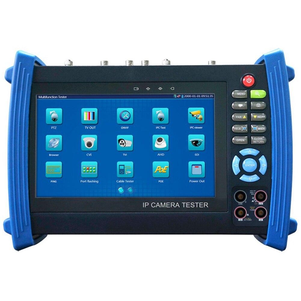 Moniteur d'appareil de contrôle de sécurité Cctv Ipc Sdi Tdr Pom multi-fonction 7 pouces écran caméra Test Onvif/Wifi Poe fonctions complètes Ipc-8600Mo