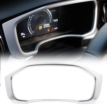 Car Styling Interior Dashboard Display Frame Cover Protector Trim Decoration for Volvo XC60 2018 2019 ABS Plastic Silver