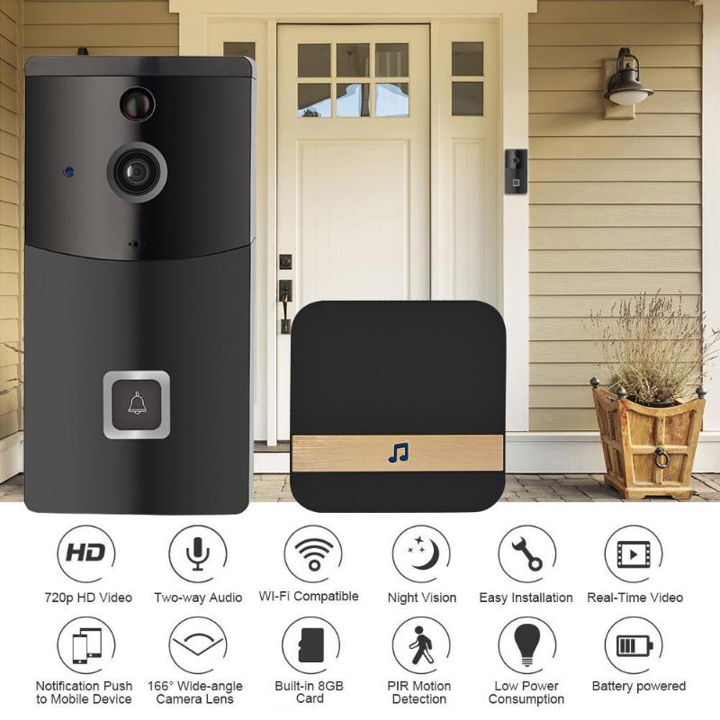 B10 Smart Wireless WiFi Intercom Video Visual Doorbell Two Way Audio PIR Motion Sensor Infrared Home Security Doorphone