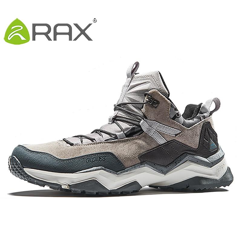 RAX 2018 Warm Hiking Shoes Men Waterproof Outdoor Winter Sports Sneaker For Women Tourism Shoes Women Antislip Men Tourism Shoes