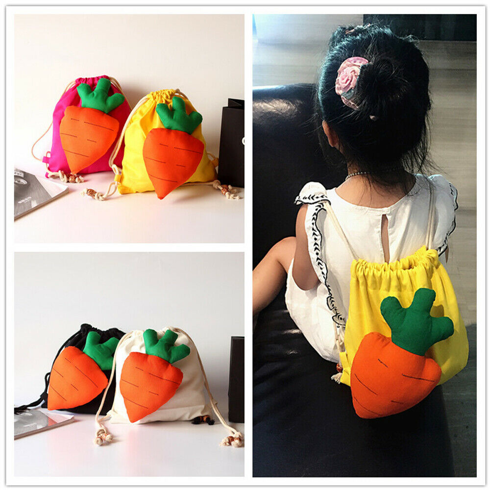 Carrots Drawstring Girls Bags
