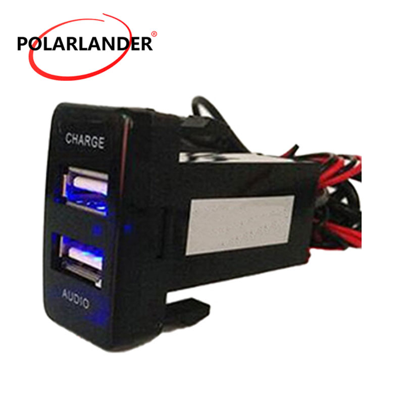 PolarLander 12v Dual USB Chargeur de Voiture USB 2.1A 2 Port Auto Power Adaptateur Socket Car Styling