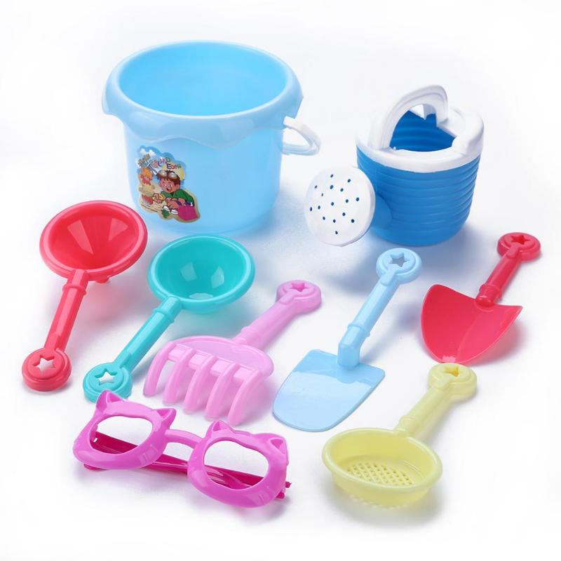 9pcs/set Baby Shower Playing Water Kettle Bucket Beach Sand Play Toys Kids Bucket Shovel Pretended Outdoor Seaside Play Toys