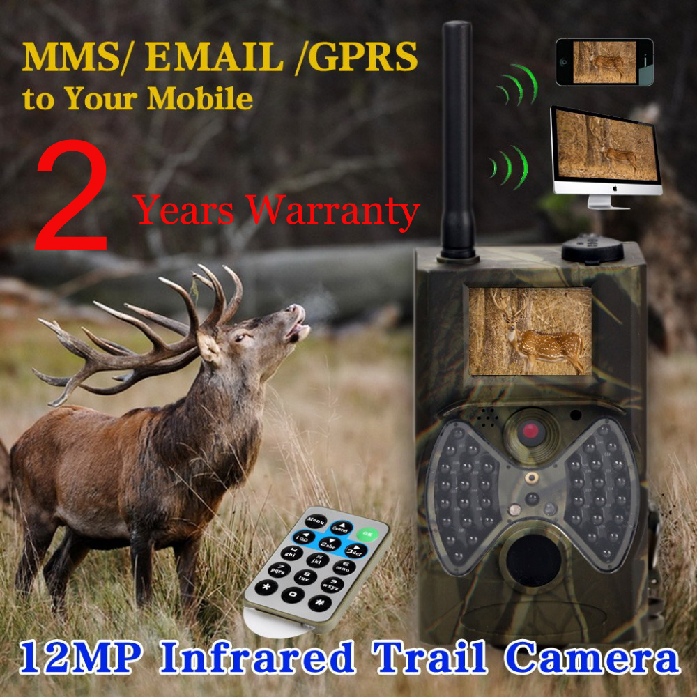 12MP 940nm NO glow Trail Cameras MMS Hunting Cameras Trap Game Cameras Black IR Wildlife Cameras Free shiping