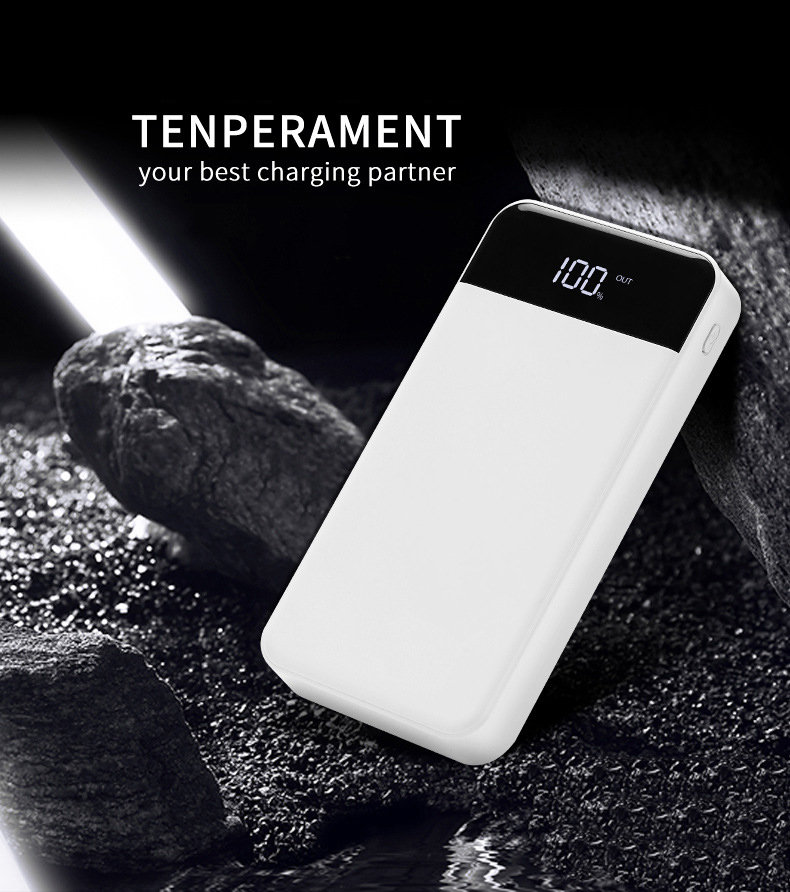 Fast Charge Power Bank 20000 mAh 2 USB PowerBank 18650 External <font><b>Battery</b></font> For iPhone For <font><b>Xiaomi</b></font> PoverBank <font><b>Battery</b></font> Charger <font><b>Cases</b></font> image