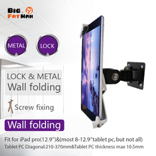 Universal wall mounting for tablet pc display stand holder brace 7 to 9.7 inch ipad samsung plurality of angles