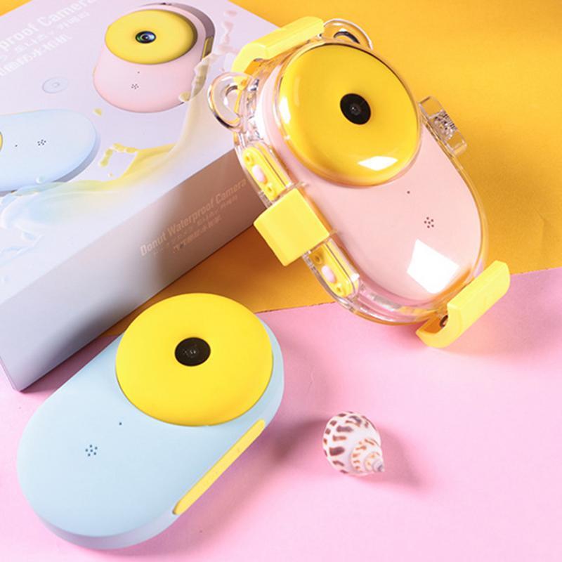 Appareil photo numérique en forme de beignet de sport pour enfants avec écran LCD étanche 3 M résolution HD Zoom Flash caméra de plongée pour enfants - 3