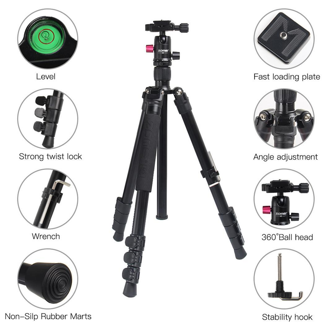 Zomei M3 Camera tripod Lightweight aluminium Stand Tripod Monopod with Ball Head Quick Release Plate for SLR DSLR Live Shooting - 6