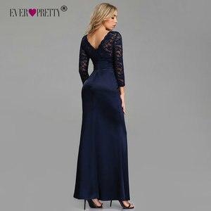 Image 3 - ערב שמלות ארוך פעם די ארוך שרוול חורף O צוואר תחרה בת ים סקסי אירוע מיוחד מסיבת שמלות לאורחי חתונה