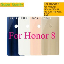 10Pcs/lot For Huawei Honor 8 FRD-L02 FRD-L04 Dual FRD-L09 FRD-L19 Housing Battery Cover Back Glass Rear Door Chassis Shell