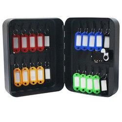 Caja de Seguridad de 20/36 dígitos para gestión de llaves de coche, caja de llave montada en la pared con tarjeta de seguridad, almacenamiento de propiedad, Oficina de la empresa DHZ024