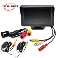 4.3 Inch TFT LCD Rear View Monitor Pocket sized 18.5mm 8led Rearview Car Camera Video Transmitter & Receiver Kit
