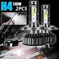جديد زوج سيارة العلوي H4 LED 55 W 8000LM 6500 K 12 V 24 V السيارات كشافات الضباب القيادة ضوء لمبة