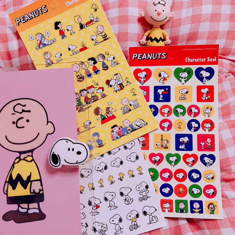 Ins Popular Cute Cartoon Snoopy Sticker For Handbook Notebook Diary Decorative Mobile Phone Diy Stickers Children's Gift