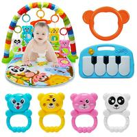 Baby Washable Play Mat Lay And Kids Gym Play Mat 4 in 1 Fitness Music Fun Piano Play Mat For Boys Girls