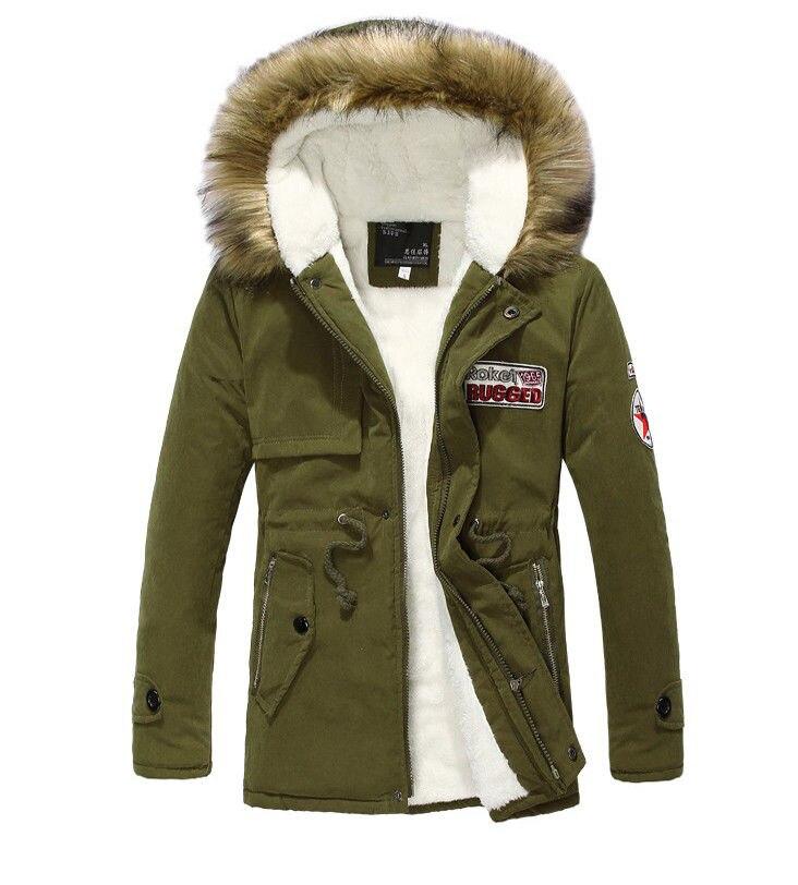 Parka Men Coats 2018 Winter Jacket Men Slim Thicken Fur Hooded Outwear Warm Coat Top Brand Clothing Casual Men's Coat Tops